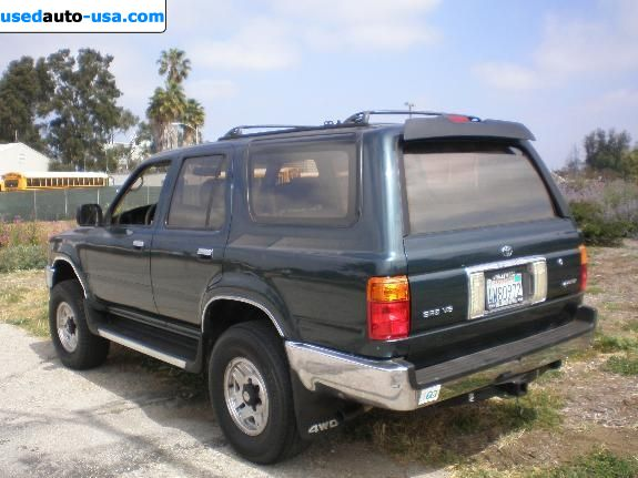 for sale 1994 passenger car toyota 4runner insurance rate