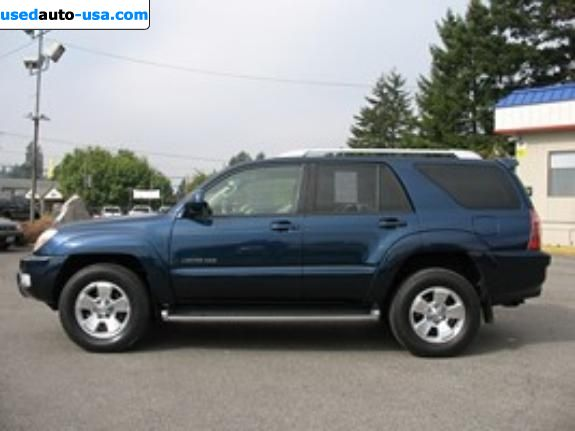 for sale 2004 passenger car toyota 4runner tacoma insurance rate quote price 11995. Black Bedroom Furniture Sets. Home Design Ideas