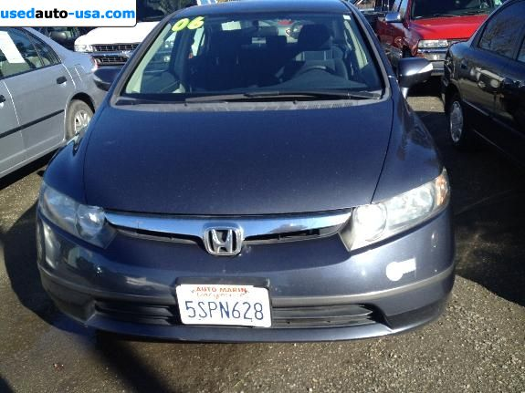 for sale 2006 passenger car honda civic hybrid novato insurance rate quote price 8950. Black Bedroom Furniture Sets. Home Design Ideas