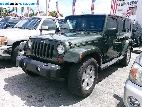 for sale 2007 passenger car jeep wrangler unlimited miami insurance rate quote price 16995. Black Bedroom Furniture Sets. Home Design Ideas