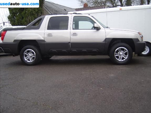 Car Market in USA - For Sale 2004  Chevrolet Avalanche