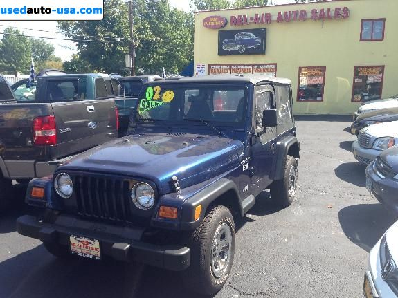 Car Market in USA - For Sale 2002  Jeep Wrangler X- 4X4-6-CYL