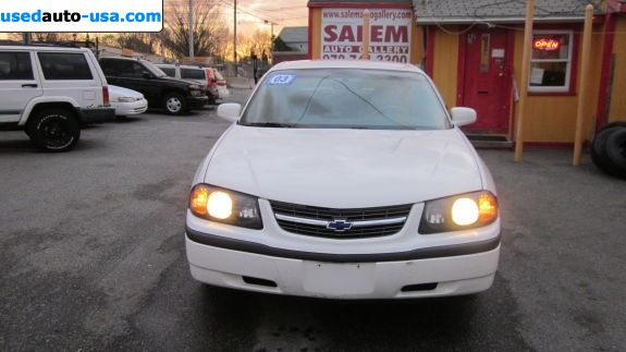 Car Market in USA - For Sale 2003  Chevrolet Impala Base
