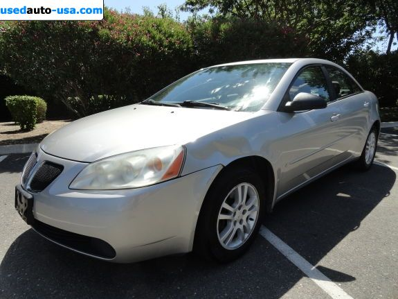 Car Market in USA - For Sale 2006  Pontiac G6 Base