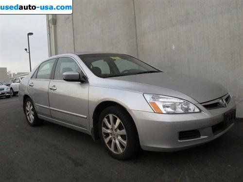 For Sale 2007 Passenger Car Honda Accord Sedan 4dr V6 At