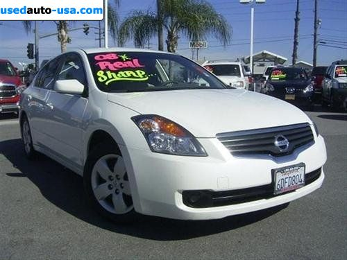 for sale 2008 passenger car nissan altima 2 5 s riverside insurance rate quote price 15999. Black Bedroom Furniture Sets. Home Design Ideas