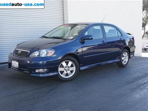 for sale 2008 passenger car toyota corolla s sedan 4d carlsbad insurance rate quote price 11999. Black Bedroom Furniture Sets. Home Design Ideas