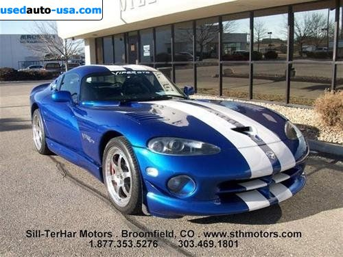for sale 1996 passenger car dodge viper gts broomfield insurance rate quote price 49999. Black Bedroom Furniture Sets. Home Design Ideas
