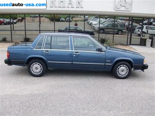 For Sale 1988 passenger car Volvo 740 GLE, Broomfield, insurance rate quote, price 2481$