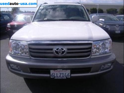 For Sale 2007 Passenger Car Toyota Land Cruiser Cruiser 4wd San Diego Insurance Rate Quote