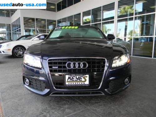 for sale 2009 passenger car audi a5 quattro van nuys insurance rate quote price 47995. Black Bedroom Furniture Sets. Home Design Ideas