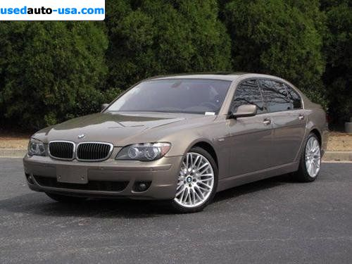 for sale 2007 passenger car bmw 7 series sedan roswell insurance rate quote price 39998. Black Bedroom Furniture Sets. Home Design Ideas