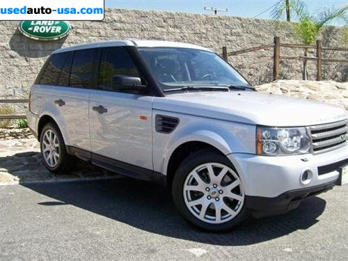 for sale 2007 range rover sport hse pasadena insurance rate quote price 34695. Black Bedroom Furniture Sets. Home Design Ideas