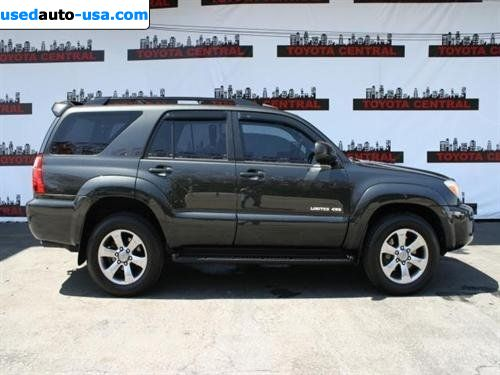 for sale 2007 passenger car toyota 4runner limited los angeles insurance rate quote. Black Bedroom Furniture Sets. Home Design Ideas