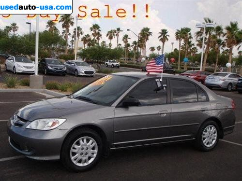 Car Market in USA - For Sale 2004  Honda Civic LX   AT