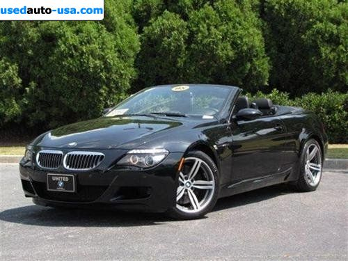 for sale 2008 passenger car bmw m6 convertible roswell insurance rate quote price 62998. Black Bedroom Furniture Sets. Home Design Ideas