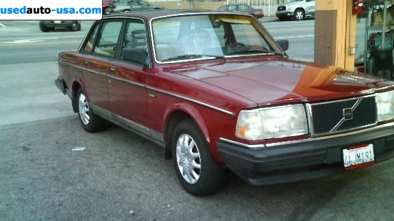 For Sale 1987 passenger car Volvo 240, Glendale, insurance rate quote, price 2600$